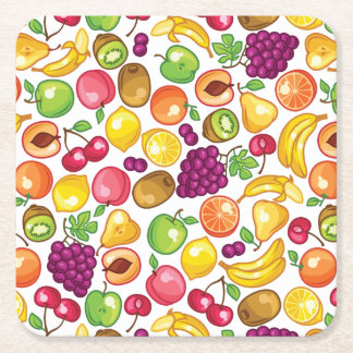 Fruit Pattern Square Paper Coaster