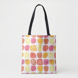 Fruit pattern tote bag