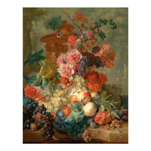 Fruit Piece - Jan van Huysum (1722) Letterhead