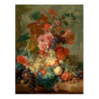 Fruit Piece - Jan van Huysum (1722) Tarjetas Postales