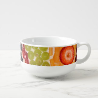 Fruit Pizza Close-Up Photo Soup Mug