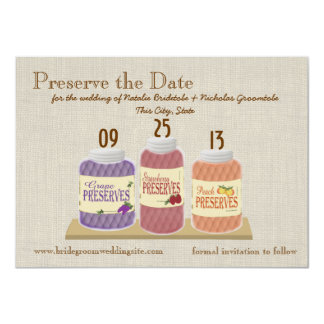 Fruit Preserves Save the Date Card