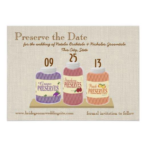 Fruit Preserves Save the Date Custom Invites