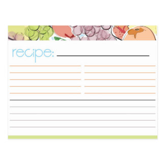 Fruit Recipe Card