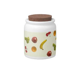 Fruit Salad Candy/Sugar Jar Candy Jars