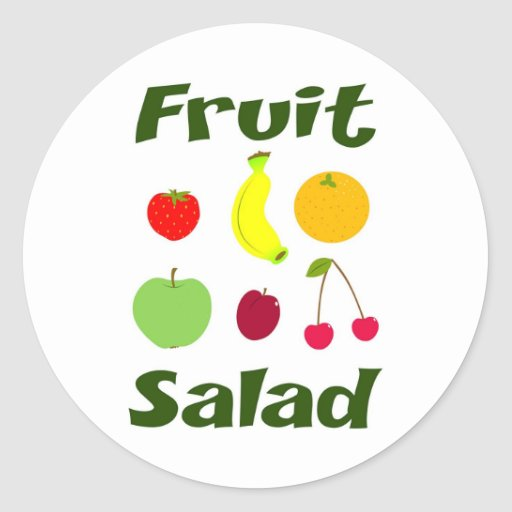 Fruit Salad Classic Round Sticker