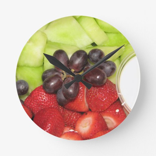 Fruit Salad Round Wall Clock