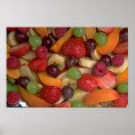 Fruit salad, close-up posters