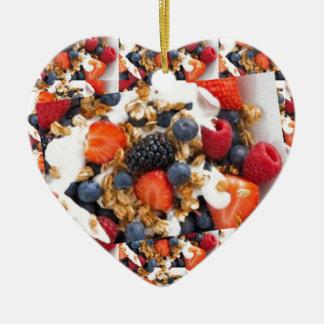 Fruit Salad Foods Chef Healthy Eating Cuisine Art Ceramic Ornament