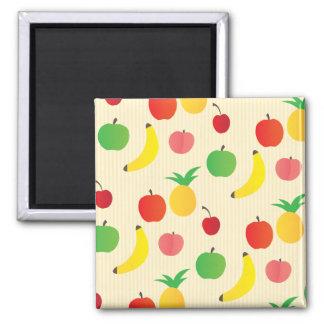 Fruit Salad Pattern 2 Inch Square Magnet
