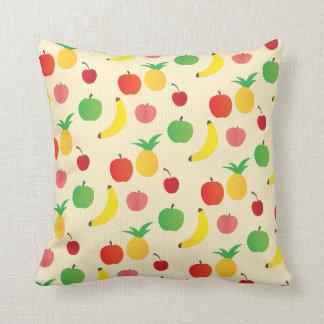Fruit Salad Pattern Throw Pillows