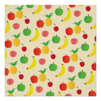 Fruit Salad Pattern Poster
