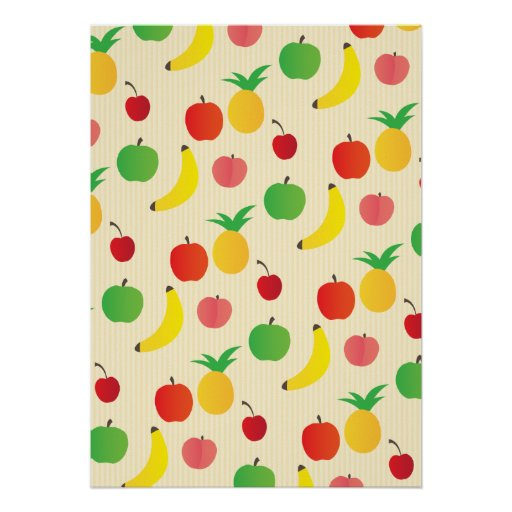 Fruit Salad Pattern Posters