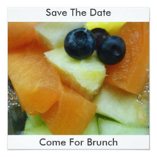 Fruit Salad, Save The Date, Come For Brunch Card
