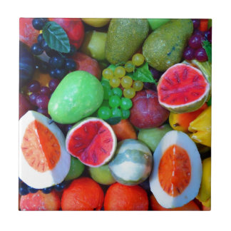 Fruit salad small square tile