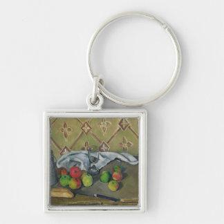 Fruit, Serviette and Milk Jug, c.1879-82 Silver-Colored Square Keychain
