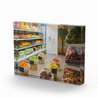 Fruit shop acrylic award