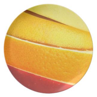 Fruit Slices Melamine Plate