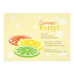 Fruit Slices -summer party invitations