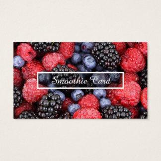 fruit smoothie loyalty program business card
