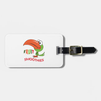 FRUIT SMOOTHIES TRAVEL BAG TAGS