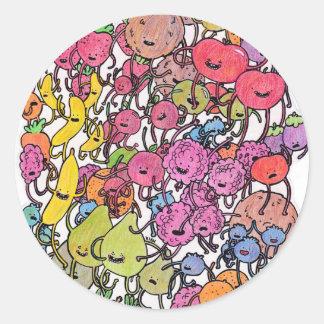 Fruit Stampede Classic Round Sticker