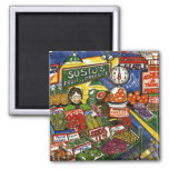Fruit Stand 2 Inch Square Magnet
