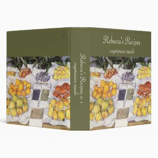 Fruit Stand by Caillebotte, Vintage Impressionism 3 Ring Binder