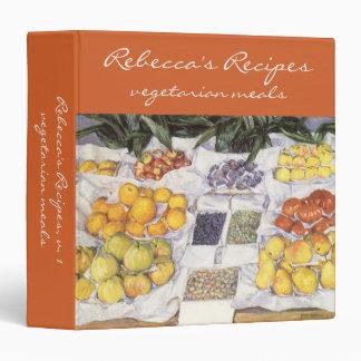 Fruit Stand by Caillebotte, Vintage Impressionism 3 Ring Binders