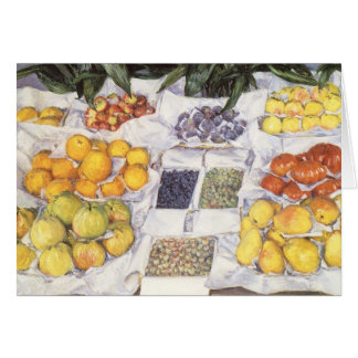 Fruit Stand by Caillebotte, Vintage Impressionism Greeting Card