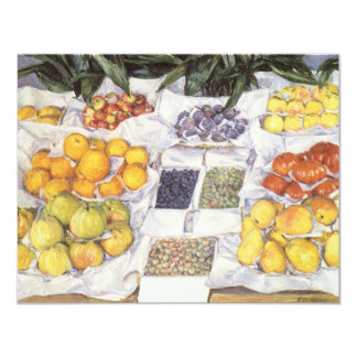 Fruit Stand by Caillebotte, Vintage Impressionism 4.25x5.5 Paper Invitation Card