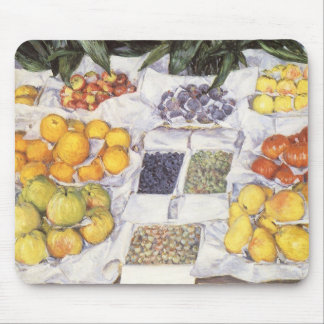 Fruit Stand by Caillebotte, Vintage Impressionism Mouse Pad
