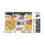 Fruit Stand by Caillebotte, Vintage Impressionism Postage Stamps