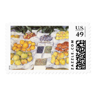 Fruit Stand by Caillebotte, Vintage Impressionism Postage Stamps