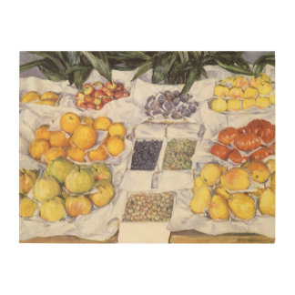 Fruit Stand by Gustave Caillebotte, Vintage Art