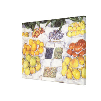 Fruit Stand by Gustave Caillebotte, Vintage Art Canvas Print