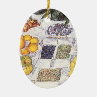 Fruit Stand by Gustave Caillebotte, Vintage Art Ceramic Ornament