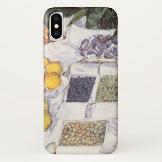 Fruit Stand by Gustave Caillebotte, Vintage Art iPhone X Case