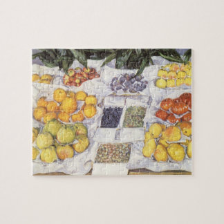 Fruit Stand by Gustave Caillebotte, Vintage Art Jigsaw Puzzle