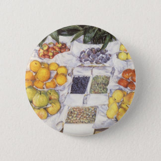 Fruit Stand by Gustave Caillebotte, Vintage Art Pinback Button