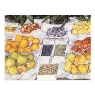 Fruit Stand by Gustave Caillebotte, Vintage Art Postcard