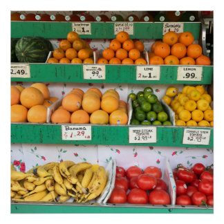 Fruit Stand, Columbus Avenue, New York City, NYC Poster