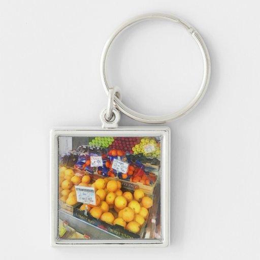 Fruit Stand Hoboken NJ Keychain