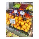 Fruit Stand Hoboken NJ Postcard