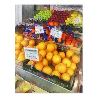 Fruit Stand Hoboken NJ Postcards