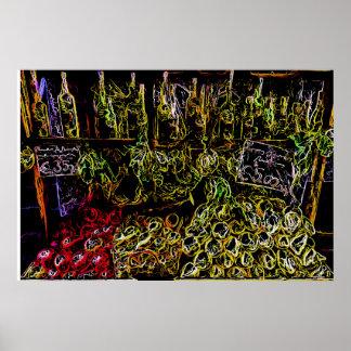 Fruit stand in Positano Unique Art Poster