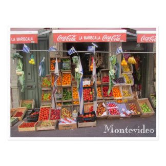 fruit stand montevideo postcard
