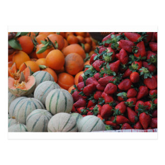 Fruit stand postcard