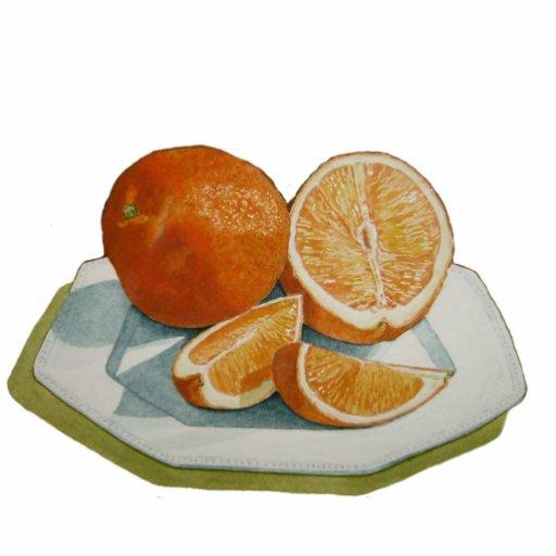 Fruit still life oranges sculpture fridge magnet cut outs