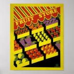 Fruit Store- WPA Poster -